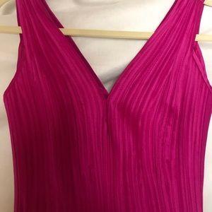 💖Vintage Tadashi Hot Pink Fringe Cocktail Dress